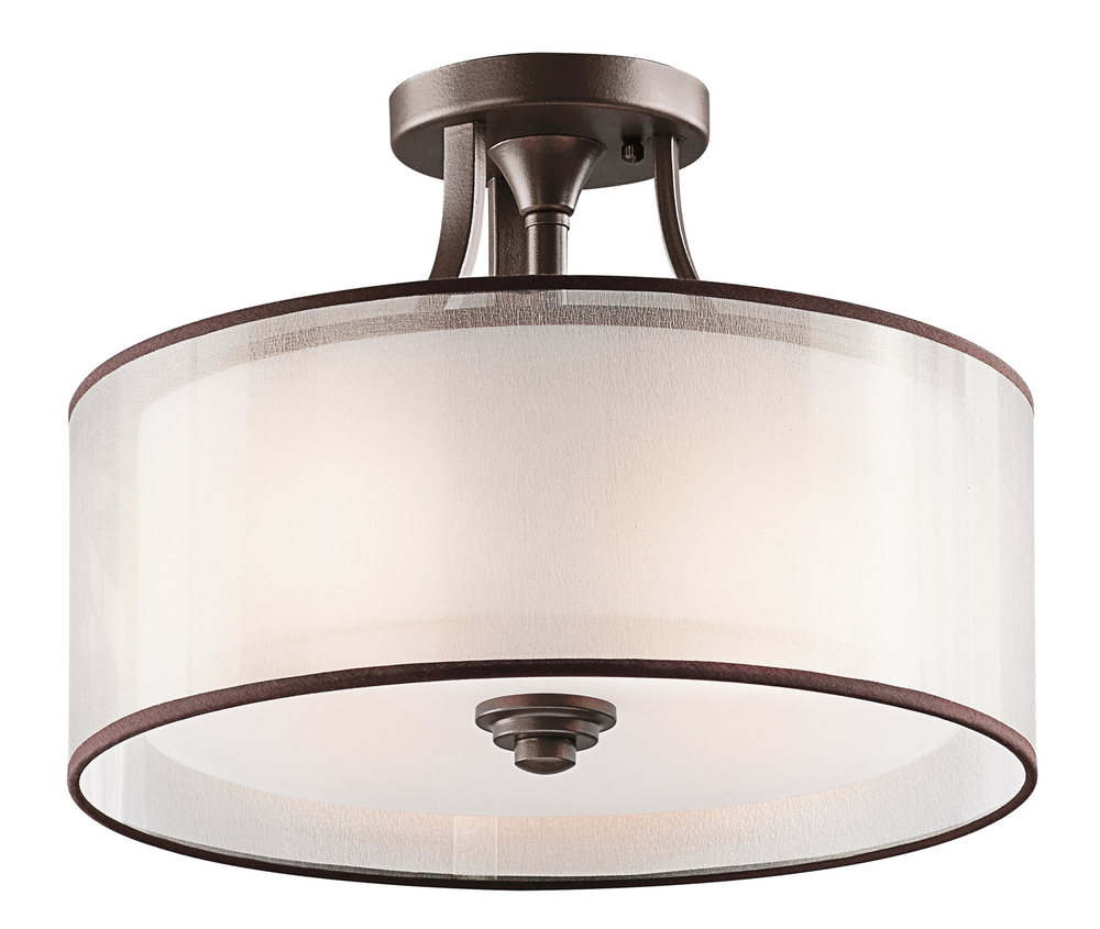 Kitchen Semi Flush Mount Ceiling Lights Brushed Nickel Clear
