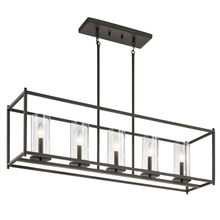 Kichler 43995OZ - Linear Chandelier 5Lt