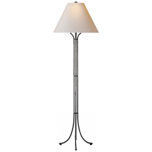 Visual Comfort CHA 9715AI-NP - Tremayne Floor Lamp in Aged Iron with Natural Pa