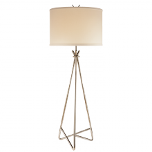 Visual Comfort S 1087PN-L - Diana Floor Lamp in Polished Nickel with Linen S