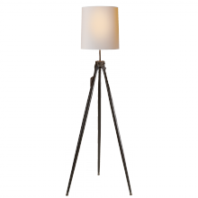 Visual Comfort TOB 1027EBO-NP - Surveyor Floor Lamp in Ebony with Natural Paper