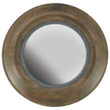 Capital 730204MM - Brown Washed Wood and Iron Mirror