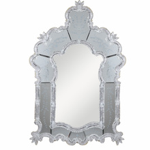 Elegant MR-1002S - Murano 33 in. Transitional Mirror in Silver leaf