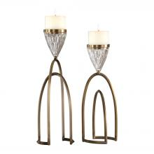 Uttermost 18920 - Uttermost Carma Bronze And Crystal Candleholders, S/2
